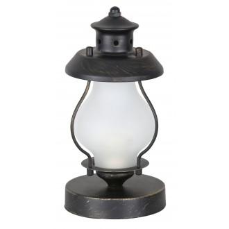 RABALUX 7346   Victorio Rabalux stolna svjetiljka 26cm s prekidačem 1x E14 crno mat, antik zlato, bijelo