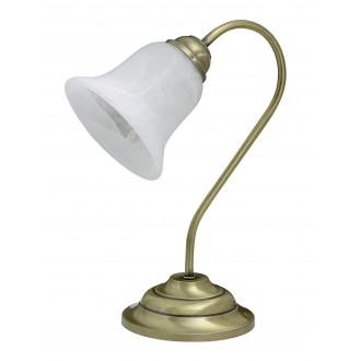 RABALUX 7372   Francesca Rabalux stolna svjetiljka 37cm sa prekidačem na kablu 1x E14 bronca, bijelo alabaster