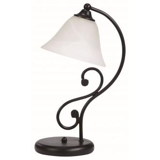 RABALUX 7772   Dorothea Rabalux stolna svjetiljka 38cm sa prekidačem na kablu 1x E14 crno mat, bijelo alabaster