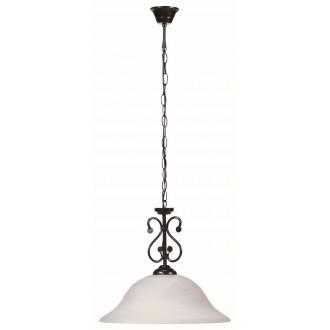 RABALUX 7776 | Dorothea Rabalux visilice svjetiljka 1x E27 crno mat, bijelo alabaster