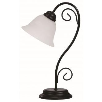 RABALUX 7812 | Athen Rabalux stolna svjetiljka 41cm sa prekidačem na kablu 1x E14 crno mat, bijelo alabaster
