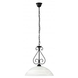 RABALUX 7816 | Athen Rabalux visilice svjetiljka 1x E27 crno mat, bijelo alabaster