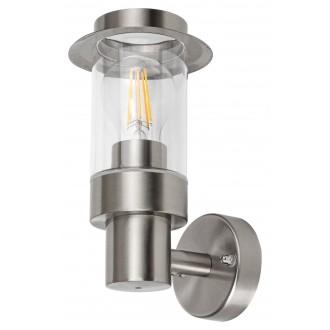 RABALUX 7838 | Warsaw Rabalux zidna svjetiljka 1x E27 IP44 krom saten, prozirno