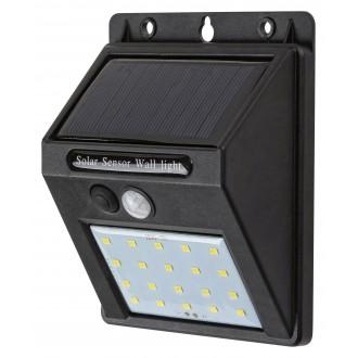 RABALUX 7880 | Ostrava Rabalux zidna svjetiljka sa senzorom solarna baterija 1x LED 100lm 4000K IP44 crno