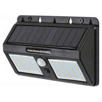 RABALUX 7881 | Ostrava Rabalux zidna svjetiljka sa senzorom solarna baterija 1x LED 225lm 4000K IP44 crno
