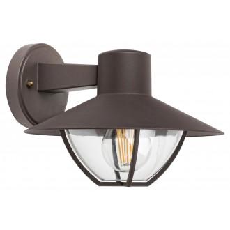 RABALUX 7884 | Almada Rabalux zidna svjetiljka 1x E27 IP44 smeđe, prozirno