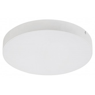 RABALUX 7893 | Tartu Rabalux stropne svjetiljke svjetiljka okrugli sa podešavanjem temperature boje 1x LED 1800lm 2800 - 4000 - 6000K IP44 bijelo mat, bijelo