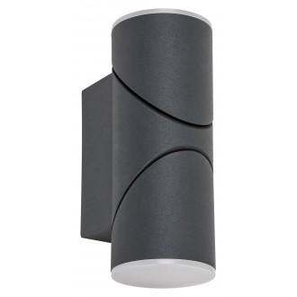 RABALUX 7904 | Belfast Rabalux zidna svjetiljka elementi koji se mogu okretati 1x LED 620lm 3000K IP65 antracit, bijelo