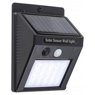 RABALUX 7933 | Ostrava Rabalux zidna solarna baterija svjetiljka sa senzorom, svjetlosni senzor - sumračni prekidač baterijska/akumulatorska 1x LED 170lm 4000K IP65 crno
