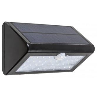 RABALUX 7934 | Ostrava Rabalux zidna solarna baterija svjetiljka sa senzorom, svjetlosni senzor - sumračni prekidač baterijska/akumulatorska 1x LED 340lm 4000K IP65 crno