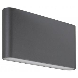 RABALUX 7952 | Nesna Rabalux zidna svjetiljka 2x LED 528lm 3000K IP54 antracit siva