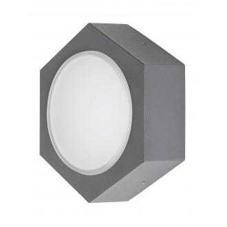RABALUX 7964 | Avola Rabalux zidna svjetiljka 1x LED 680lm 3000K IP54 antracit siva, bijelo