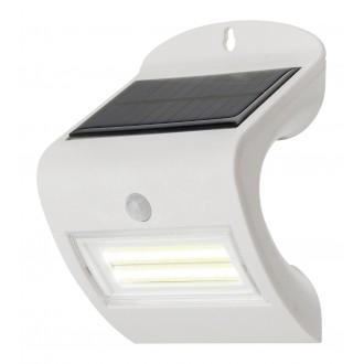 RABALUX 7970 | Opava Rabalux zidna svjetiljka sa senzorom solarna baterija 1x LED 115lm 4000K IP44 bijelo