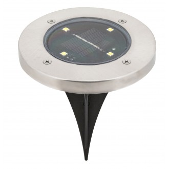 RABALUX 7975 | Dannet Rabalux ubodne svjetiljke svjetiljka solarna baterija 1x LED 4lm 3000K IP44 krom saten