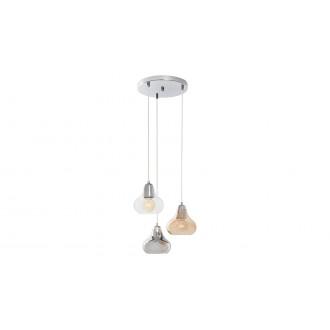 RABALUX 7977 | Jezabel Rabalux visilice svjetiljka 3x E27 krom, dim