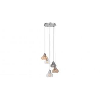 RABALUX 7978 | Jezabel Rabalux visilice svjetiljka 5x E27 krom, dim