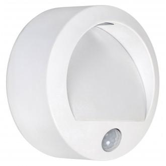 RABALUX 7980 | Amarillo Rabalux zidna svjetiljka sa senzorom baterijska/akumulatorska 1x LED 50lm 3000K IP44 bijelo
