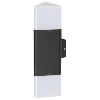 RABALUX 7989 | Zadar Rabalux zidna svjetiljka 2x E27 IP44 UV crno, bijelo