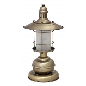 RABALUX 7992   Sudan Rabalux stolna svjetiljka 42cm sa prekidačem na kablu 1x E27 bronca, bijelo
