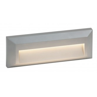RABALUX 8011 | Pueblo Rabalux zidna svjetiljka 1x LED 103lm 4000K IP65 UV sivo