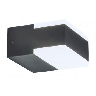 RABALUX 8060 | Bona Rabalux zidna svjetiljka 2x LED 678lm 4000K IP54 UV antracit, bijelo