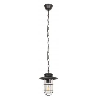 RABALUX 8070 | Pavia Rabalux visilice svjetiljka 1x E27 IP44 crno mat, prozirno