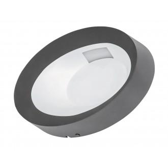 RABALUX 8079 | Bangkok Rabalux zidna svjetiljka 1x LED 480lm 4500K IP54 antracit, bijelo