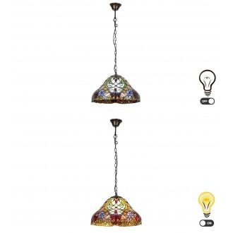 RABALUX 8086 | Mirella Rabalux visilice svjetiljka 2x E27 bronca, višebojno