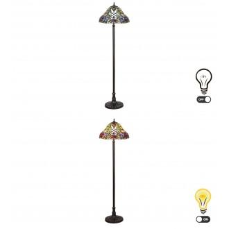 RABALUX 8088 | Mirella Rabalux podna svjetiljka 160cm sa prekidačem na kablu 2x E27 bronca, višebojno