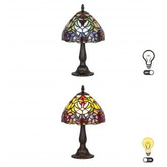 RABALUX 8089 | Mirella Rabalux stolna svjetiljka 35cm sa prekidačem na kablu 1x E14 bronca, višebojno