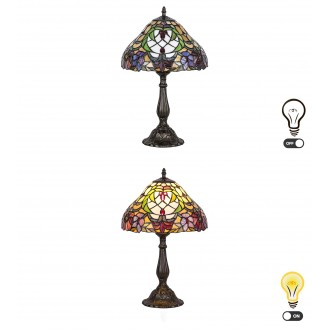 RABALUX 8090 | Mirella Rabalux stolna svjetiljka 46,5cm sa prekidačem na kablu 1x E27 bronca, višebojno