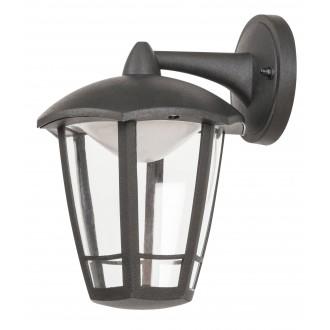 RABALUX 8125 | Sorrento Rabalux zidna svjetiljka 1x LED 500lm 3000K IP44 UV crno mat, prozirno
