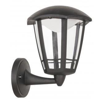 RABALUX 8126 | Sorrento Rabalux zidna svjetiljka 1x LED 500lm 3000K IP44 UV crno mat, prozirno