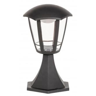 RABALUX 8127 | Sorrento Rabalux podna svjetiljka 30cm 1x LED 500lm 3000K IP44 UV crno mat, prozirno