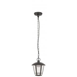 RABALUX 8128 | Sorrento Rabalux visilice svjetiljka 1x LED 500lm 3000K IP44 UV crno mat, prozirno