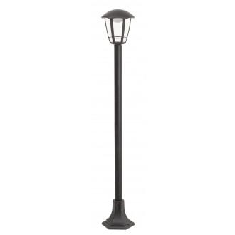 RABALUX 8129 | Sorrento Rabalux podna svjetiljka 100cm 1x LED 500lm 3000K IP44 UV crno mat, prozirno