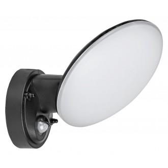 RABALUX 8135 | Varna Rabalux zidna svjetiljka sa senzorom 1x LED 720lm 4000K IP54 UV crno, bijelo