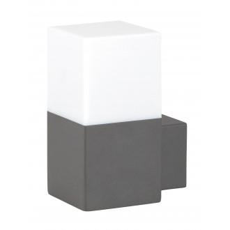 RABALUX 8138 | Dover Rabalux zidna svjetiljka 1x E27 IP54 UV antracit siva, bijelo