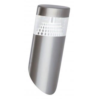 RABALUX 8141 | Detroit Rabalux zidna svjetiljka UV odporna plastika 1x LED 450lm 4000K IP44 UV plemeniti čelik, čelik sivo
