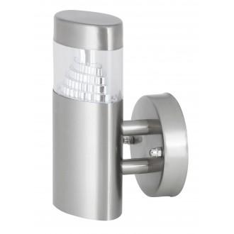 RABALUX 8142 | Detroit Rabalux zidna svjetiljka 1x LED 450lm 4000K IP44 UV plemeniti čelik, čelik sivo