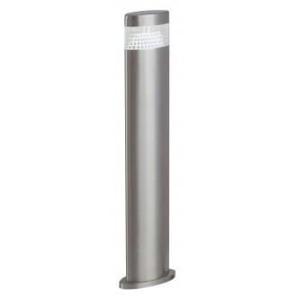 RABALUX 8143 | Detroit Rabalux podna svjetiljka 50cm 1x LED 450lm 4000K IP44 UV plemeniti čelik, čelik sivo