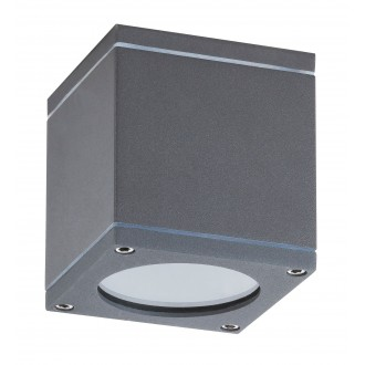 RABALUX 8149 | Akron Rabalux zidna, stropne svjetiljke svjetiljka četvorougaoni 1x GU10 IP54 UV antracit siva