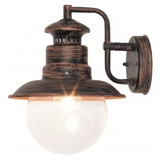 RABALUX 8163 | Odessa Rabalux zidna svjetiljka 1x E27 IP44 UV braon antik, prozirno