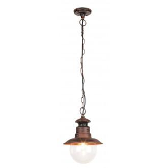 RABALUX 8164 | Odessa Rabalux visilice svjetiljka 1x E27 IP44 UV braon antik, prozirno