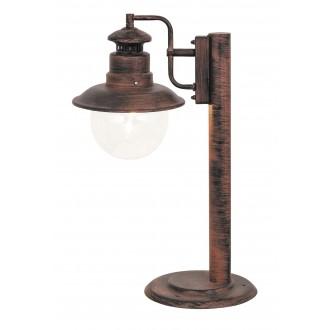 RABALUX 8165 | Odessa Rabalux podna svjetiljka 53,5cm 1x E27 IP44 UV braon antik, prozirno