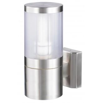 RABALUX 8166 | Atlanta Rabalux zidna svjetiljka 1x E27 IP44 UV plemeniti čelik, čelik sivo, prozirno