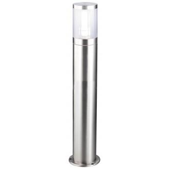RABALUX 8168 | Atlanta Rabalux podna svjetiljka 80cm 1x E27 IP44 UV plemeniti čelik, čelik sivo, prozirno