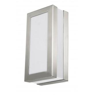 RABALUX 8170 | Stuttgart Rabalux zidna, stropne svjetiljke svjetiljka 1x E27 IP44 UV plemeniti čelik, čelik sivo, bijelo