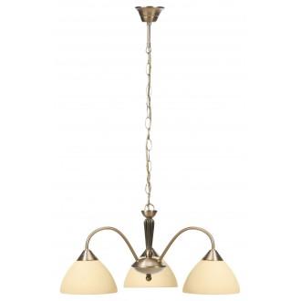 RABALUX 8173 | Regina Rabalux luster svjetiljka 3x E14 bronca, krem