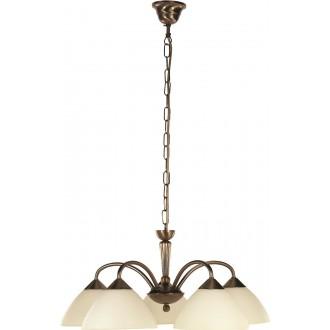 RABALUX 8175 | Regina Rabalux luster svjetiljka 5x E14 bronca, krem